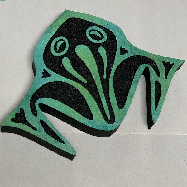 Marta Harvey | Frog Tessellation | Foam Stamp