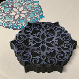 Marta Harvey | Fleur de Lis Hexagons | Foam Stamps - Set of 2