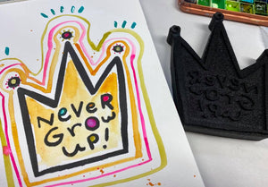 Mindy Lacefield | Never Grow Up | Foam Stamp