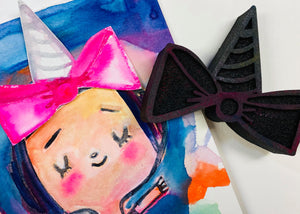 Mindy Lacefield | Unicorn Bow | Foam Stamp