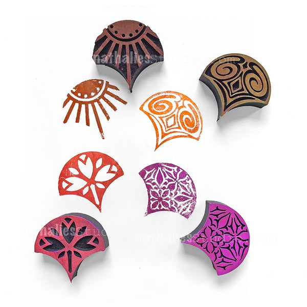 Nathalie Kalbach | Mini Fans | Foam Stamps - Set of 4