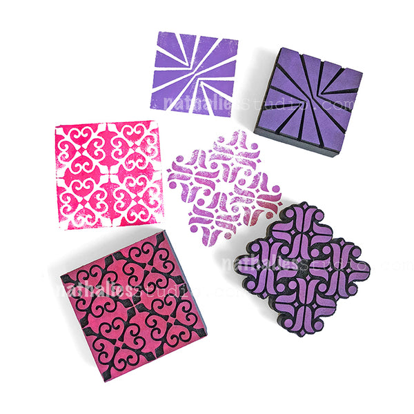 Nathalie Kalbach | Mini Tiles | Foam Stamps - Set of 3