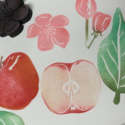 Red Tin Roof | Apples | Foam Stamps - Set of 7
