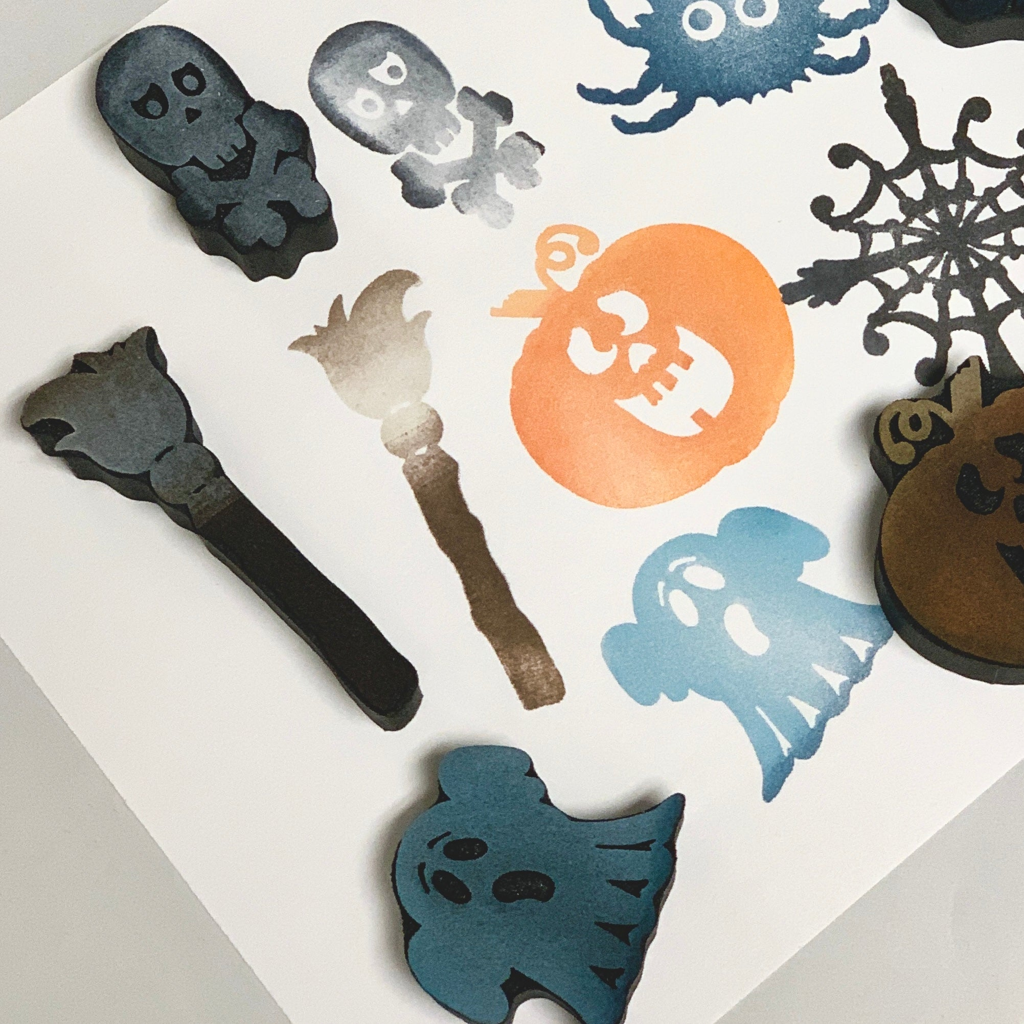 Red Tin Roof | Halloweenies Set 1  | Foam Stamps - Set of 6