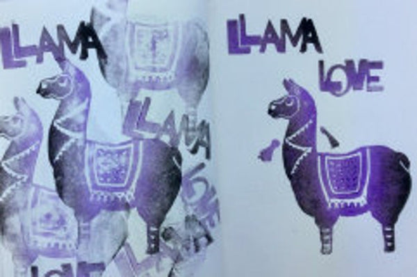 Red Tin Roof | Llama Love | Foam Stamps - Set of 5