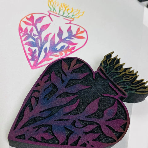 Sandra Evertson | Heart Urn | Foam Stamp