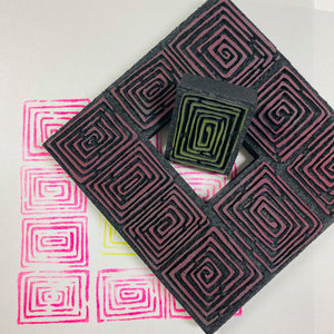 Sandra Evertson | Labyrinth | Foam Stamps - Set of 2