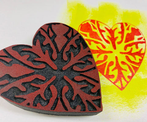 Sandra Evertson | Folk Heart | Foam Stamp