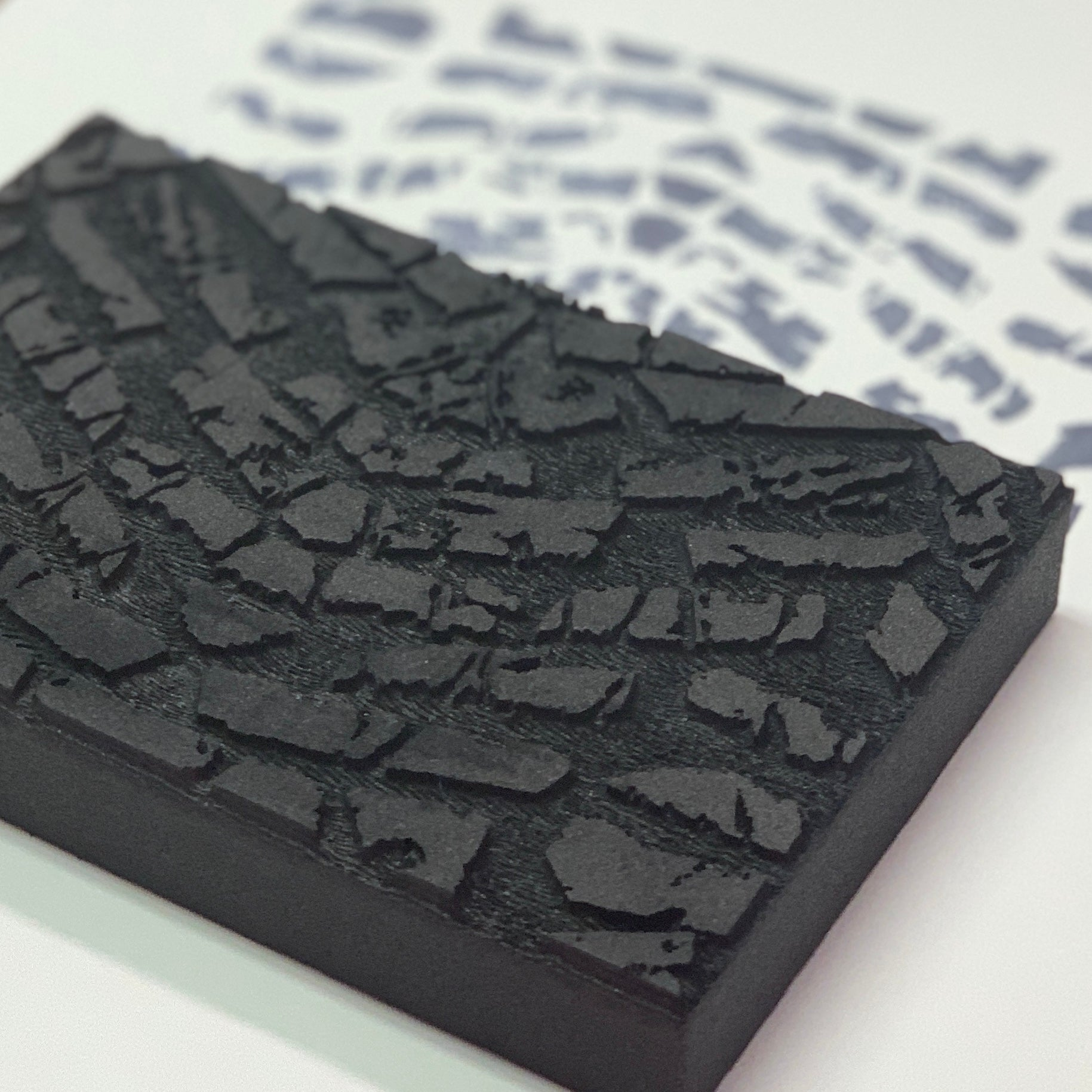 Sarah Matthews | Tire Tracks | Foam Stamp