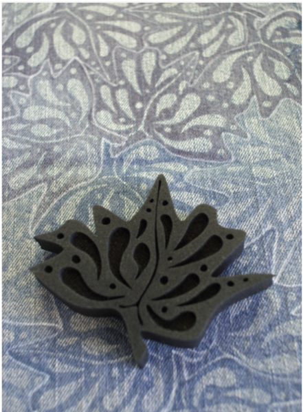 Marta Harvey | Maple Leaf Tessellation | Foam Stamp