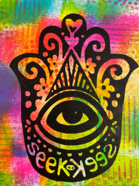 Kae Pea | Hamsa Seek Positive & Negative | Foam Stamps - Set of 2