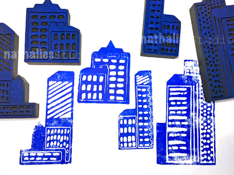 Nathalie Kalbach | Midtown | Foam Stamps - Set of 4