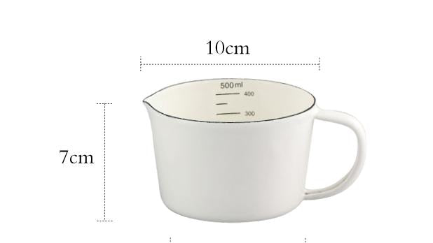 Enamel Measuring Cup Volume Markers