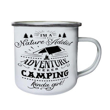Load image into Gallery viewer, Enamel and Stainless Steel Camping Coffee Mug