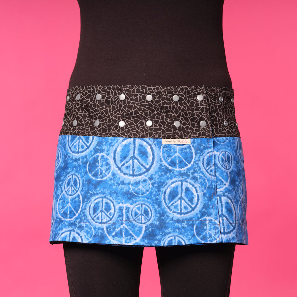 Peaceful Blues Athletic Skirt
