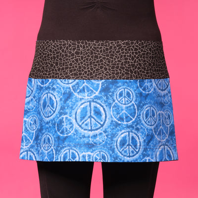 Peaceful Blues Mask & Athletic Skirt