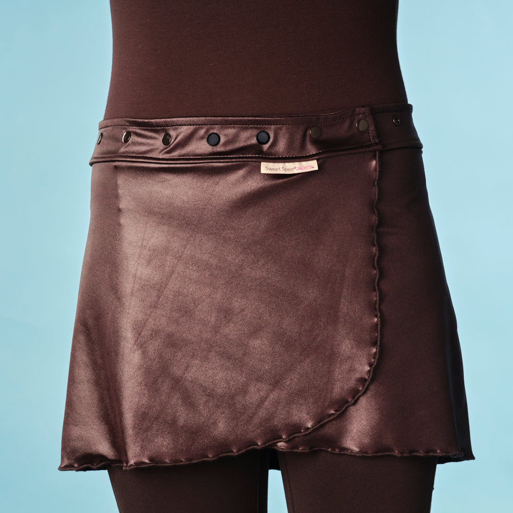 Fast 'N Flirty Crash Shimmer Running Skirt