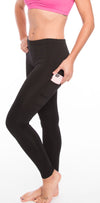 Workout Leggings Spandex Activewear Running Tights Black