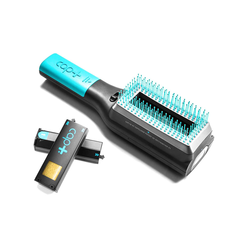 Cap+ by Capillus Volumizing Keratin Brush for concealing hair thinning