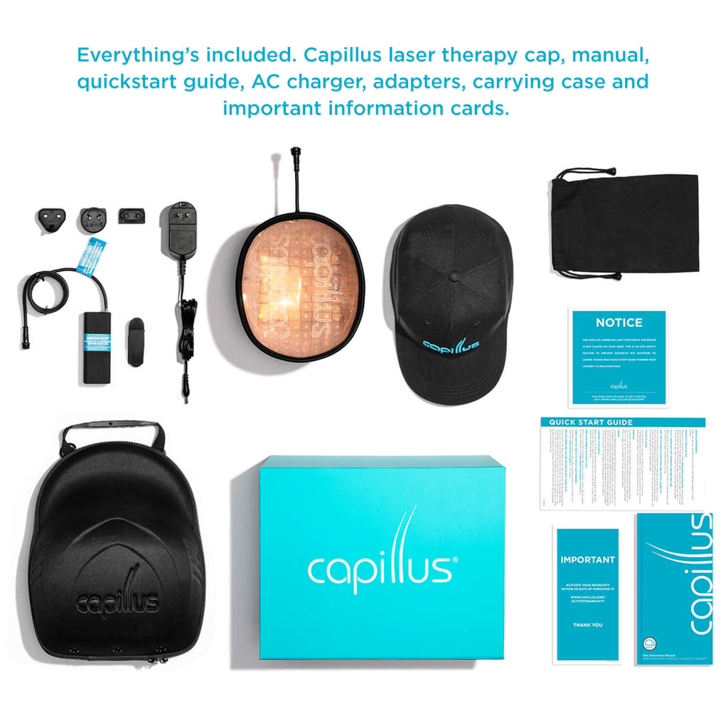 CapillusUltra+ includes everything that you need to help regrow your hair
