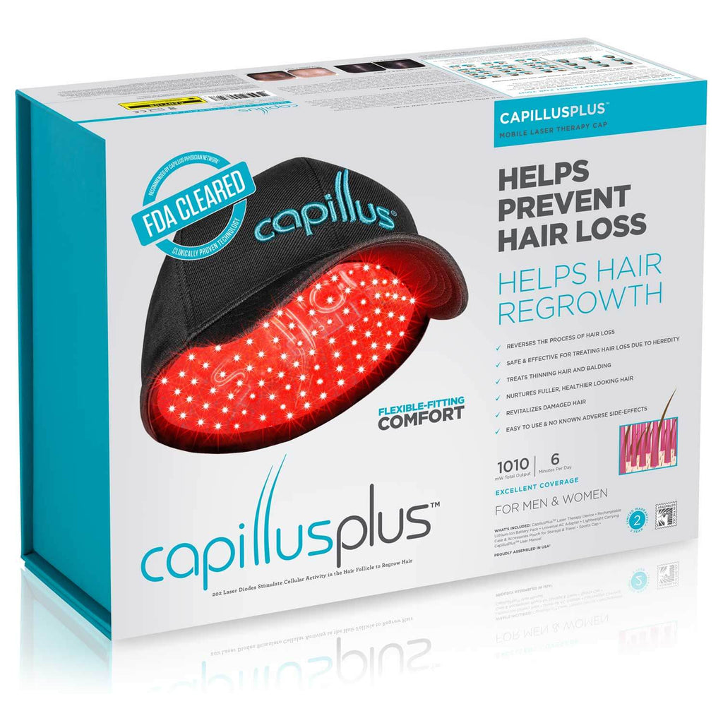 CapillusPlus Laser Therapy Cap for Hair Regrowth Packaging