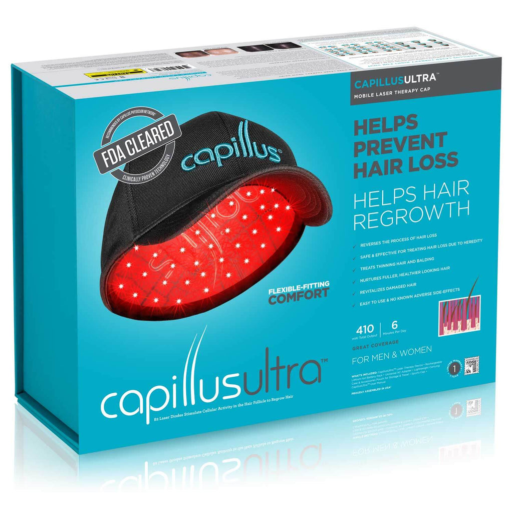 CapillusUltra Laser Therapy Cap for Hair Regrowth Packaging