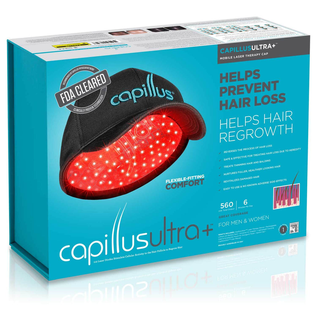 CapillusUltra+ Laser Therapy Cap for Hair Regrowth Packaging
