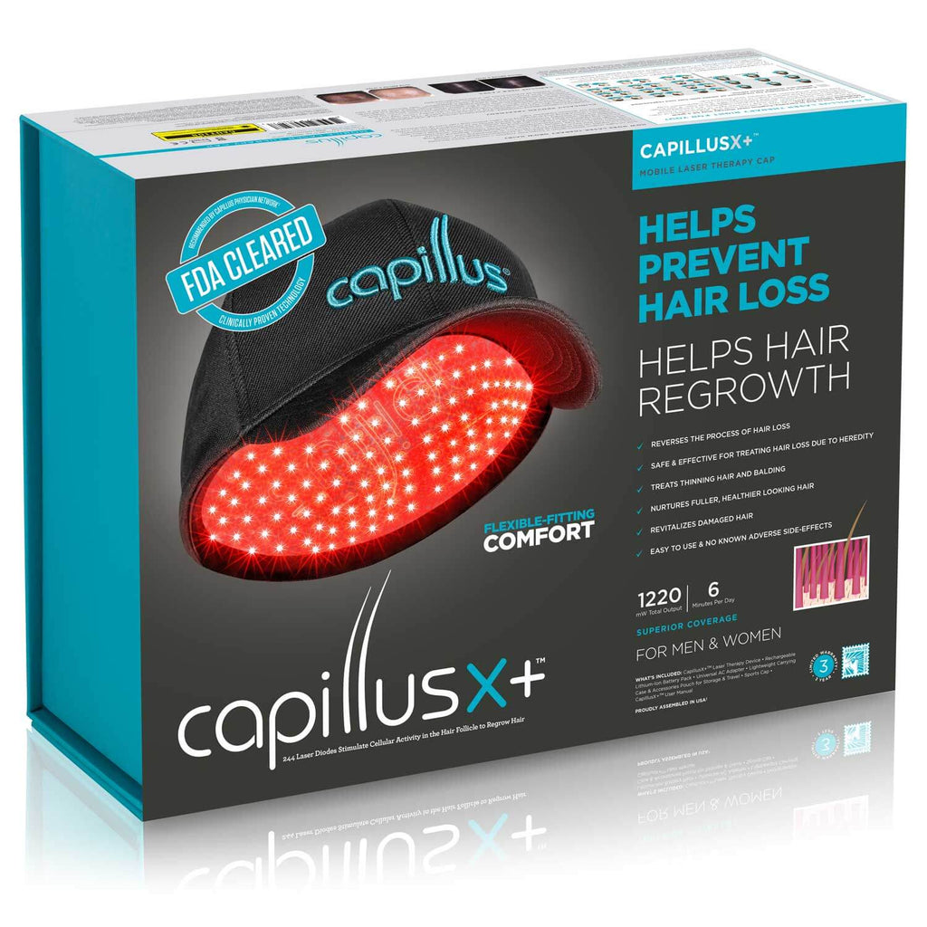 CapillusXplus Laser Therapy Cap for Hair Regrowth Packaging