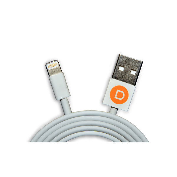 USB Charging Cable for iPhone5, iPad, and iPod - White