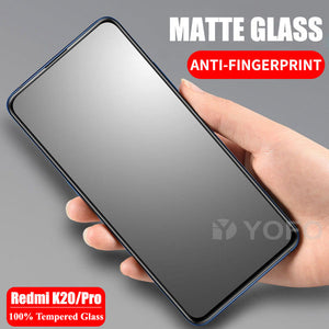 YOFO Anti Glare Matte Finish Anti-Fingerprint 9H 100% Tempered Glass Protector for MI Redmi K20 / K20 Pro (Matte Transparent)
