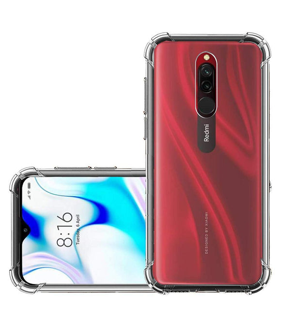 YOFO Back Cover for MI Redmi 8 (Transparent) Shockproof Silicon