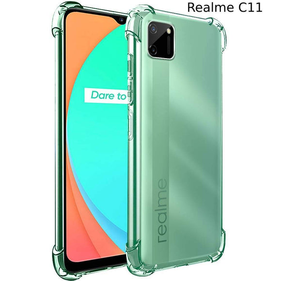 YOFO Transparent Realme C11 Back Case Cover Anti Drop Protection