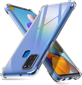 YOFO  Shockproof HD Transparent Back Cover for Samsung A21s (Transparent)