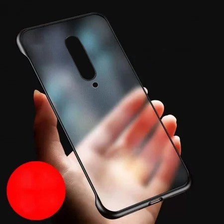 YOFO TPU Frameless case for OnePlus 7Pro (BLACK) Case Slim Translucent