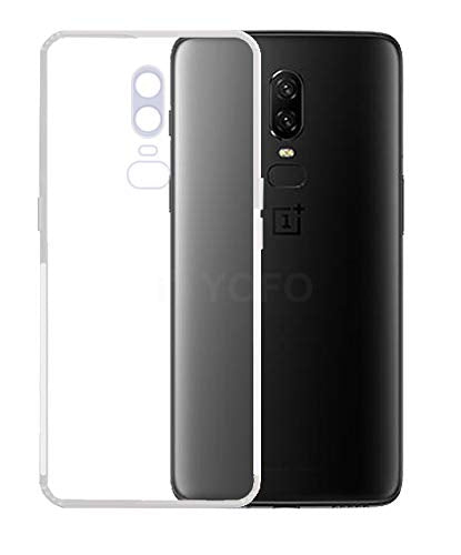 YOFO Silicon Full Protection Back Cover for OnePlus 6 (Transparent) Shockproof Ultra Thin