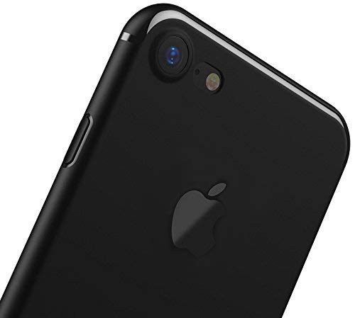 YOFO Black Logo Cut Back Cover Case for iPhone 7 / 7G (Black) Ultra Thin