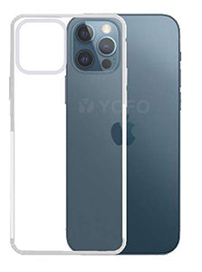 YOFO Back Cover for iPhone 12 Pro Max (6.7) (Transparent) with Dust Plug & Camera Protection