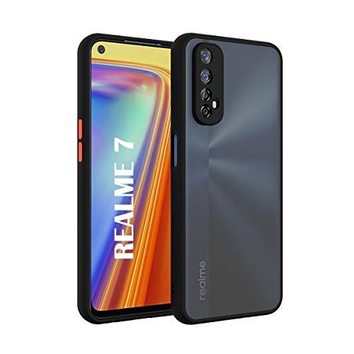 YOFO Matte Finish Smoke Back Cover with Full Camera Lens Protection for Realme 7