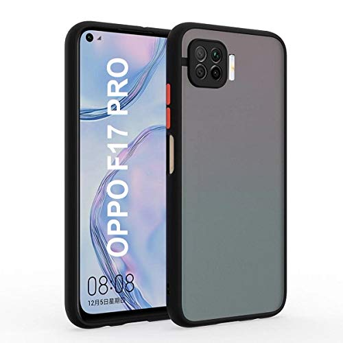 YOFO Matte Finish Smoke Back Cover with Full Camera Lens Protection for Oppo F17