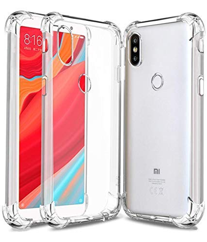 YOFO Rubber Back Cover for Redmi Y2 - Transparent