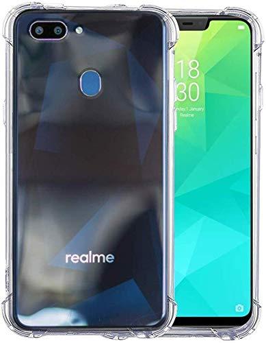 YOFO Rubber Shockproof Soft Transparent Back Cover for REALME 2