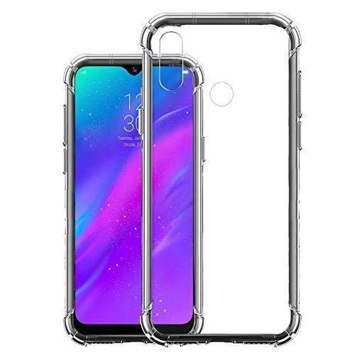 YOFO Shockproof Soft Transparent Back Cover for REALME 3 - (Transparent)