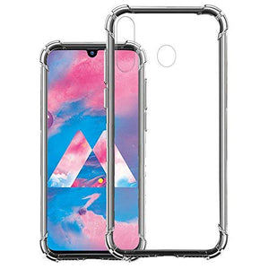 YOFO Silicone Back Cover for Samsung Galaxy M30 - Transparent