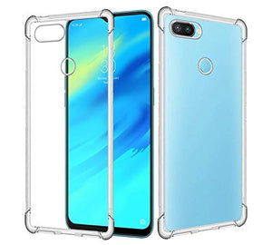 Yofo Rubber Transparent Back Cover for Realme 2 Pro Shockproof All Side Protection Case