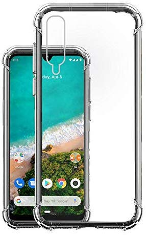 YOFO Rubber Shockproof Soft Transparent Back Cover for MI A3 - All Sides Protection Case
