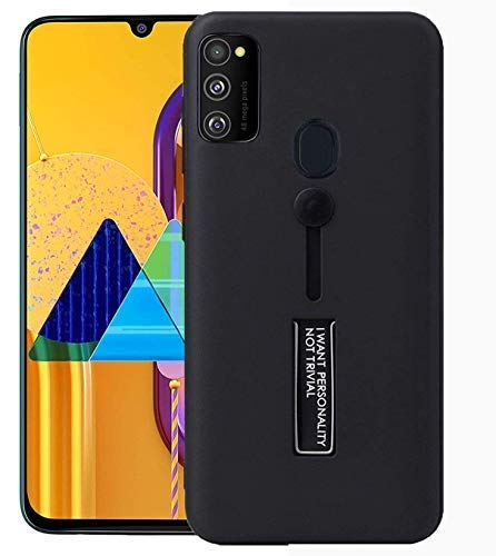 YOFO Fashion Case Full Protection Back Cover for Samsung M30s(BLACK)