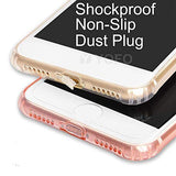 YOFO Back Cover for iPhone 6 (Transparent) with Dust Plug & Camera Protection
