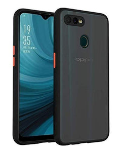 YOFO Matte Finish Smoke Back Cover with Full Camera Lens Protection for Oppo A5s / F9 Pro / A12