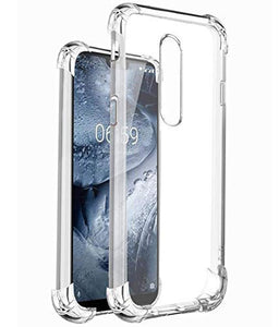 YOFO™ Rubber Transparent Shock Proof Back Case Cover for Nokia 5.1 Plus (2018)