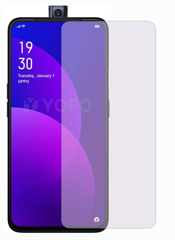 YOFO Anti Glare Matte Finish Anti-Fingerprint 9H Hammer Glass Screen Protector for Vivo V15 / Oppo F11 Pro